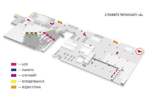 IDMedia Наружная реклама в городе Киев (Киевская область), Indoor в городе Киев №226154 схема