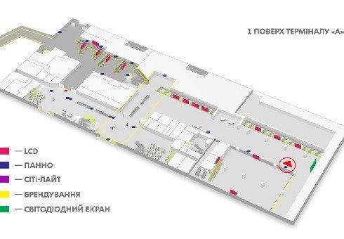 IDMedia Наружная реклама в городе Киев (Киевская область), Indoor в городе Киев №226155 схема