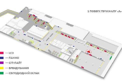 IDMedia Наружная реклама в городе Киев (Киевская область), Indoor в городе Киев №226156 схема