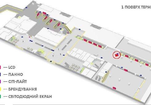 IDMedia Наружная реклама в городе Киев (Киевская область), Indoor в городе Киев №226163 схема