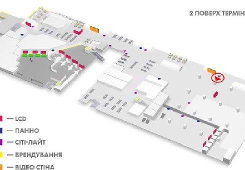 IDMedia Наружная реклама в городе Киев (Киевская область), Indoor в городе Киев №226164 схема