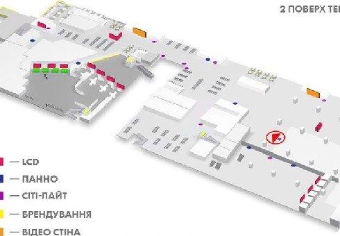 IDMedia Наружная реклама в городе Киев (Киевская область), Indoor в городе Киев №226166 схема