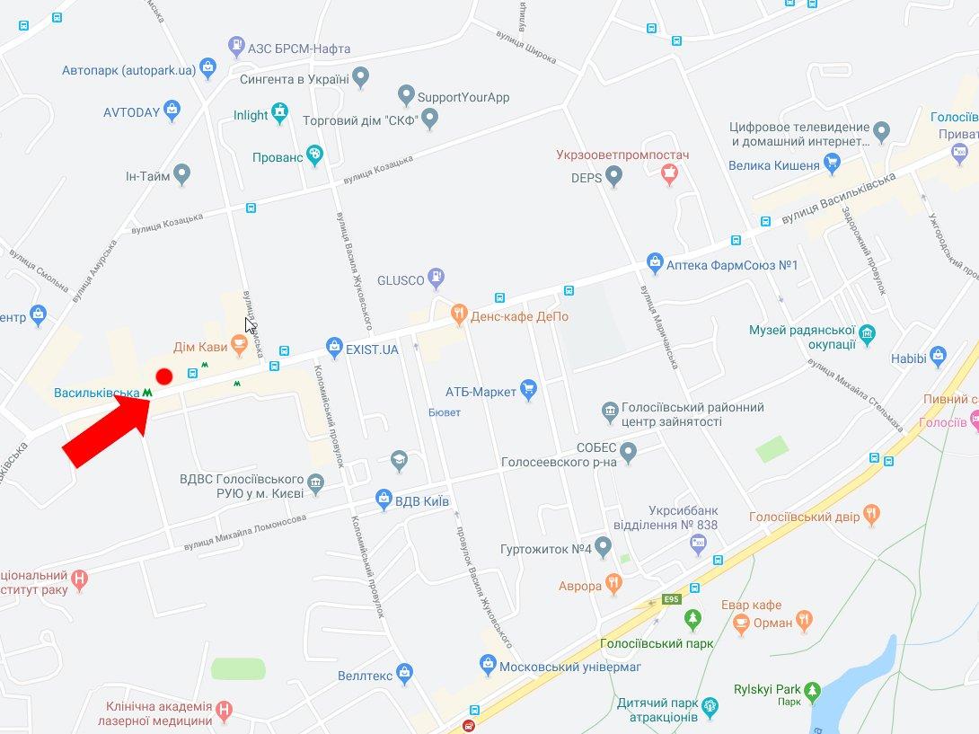 IDMedia Наружная реклама в городе Киев (Киевская область), Бэклайт в городе Киев №227789 схема