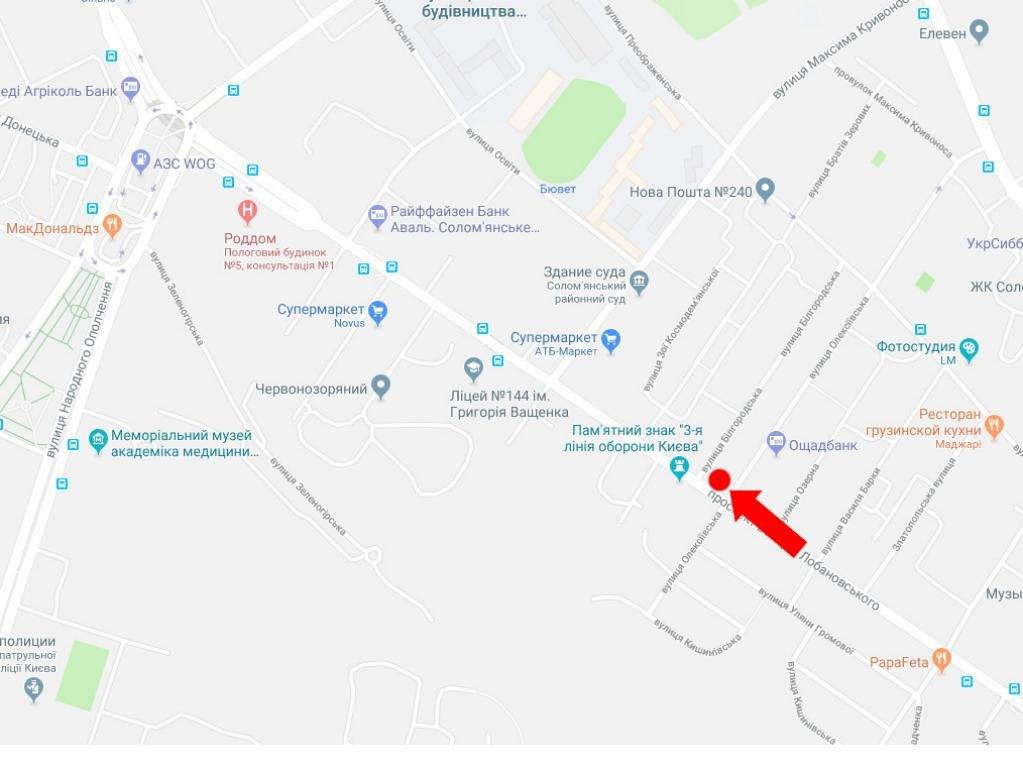 IDMedia Наружная реклама в городе Киев (Киевская область), Экран в городе Киев №228001 схема