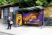 Остановка №228369 в городе Львов (Львовская область), размещение наружной рекламы, IDMedia-аренда по самым низким ценам!