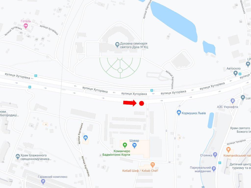 IDMedia Наружная реклама в городе Львов (Львовская область), Остановку в городе Львов №228398 схема