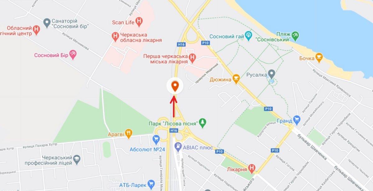 IDMedia Наружная реклама в городе Черкассы (Черкасская область), Арку в городе Черкассы №229963 схема