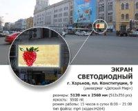 Экран №230080 в городе Харьков (Харьковская область), размещение наружной рекламы, IDMedia-аренда по самым низким ценам!