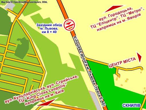 IDMedia Наружная реклама в городе Сокольники (Львовская область), Арку в городе Сокольники №230230 схема