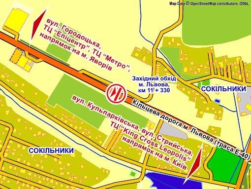 IDMedia Наружная реклама в городе Сокольники (Львовская область), Арку в городе Сокольники №230232 схема