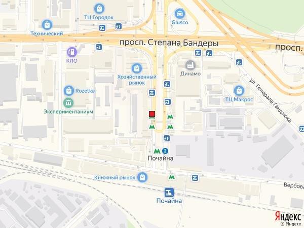 IDMedia Наружная реклама в городе Киев (Киевская область), Остановку в городе Киев №230646 схема