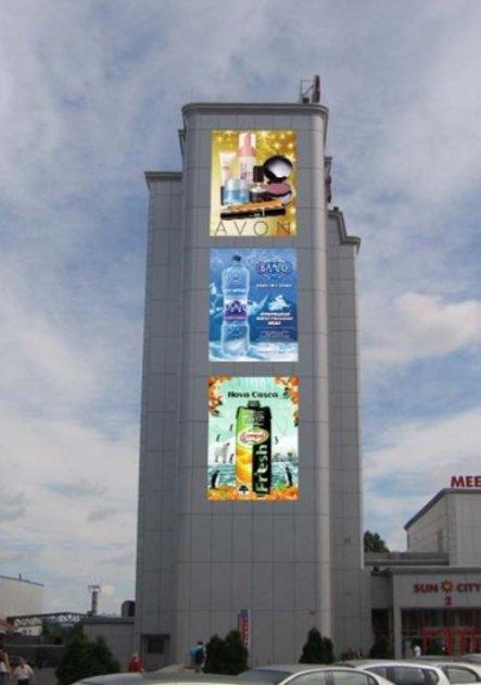 Брандмауэр №231581 в городе Харьков (Харьковская область), размещение наружной рекламы, IDMedia-аренда по самым низким ценам!