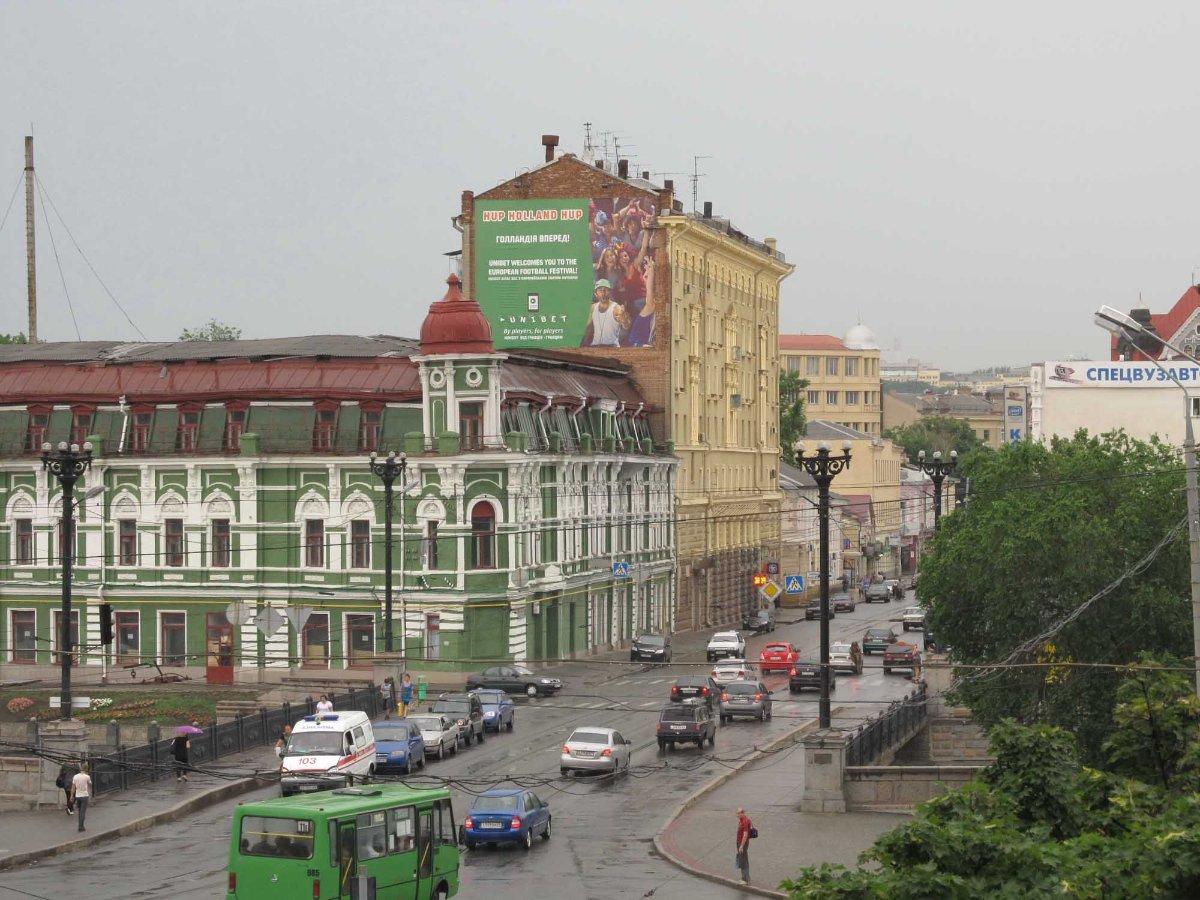 Брандмауэр №231624 в городе Харьков (Харьковская область), размещение наружной рекламы, IDMedia-аренда по самым низким ценам!