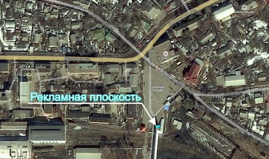 IDMedia Наружная реклама в городе Люботин (Харьковская область), Брандмауэр в городе Люботин №233596 схема