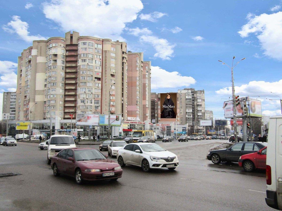 Брандмауэр №235497 в городе Одесса (Одесская область), размещение наружной рекламы, IDMedia-аренда по самым низким ценам!