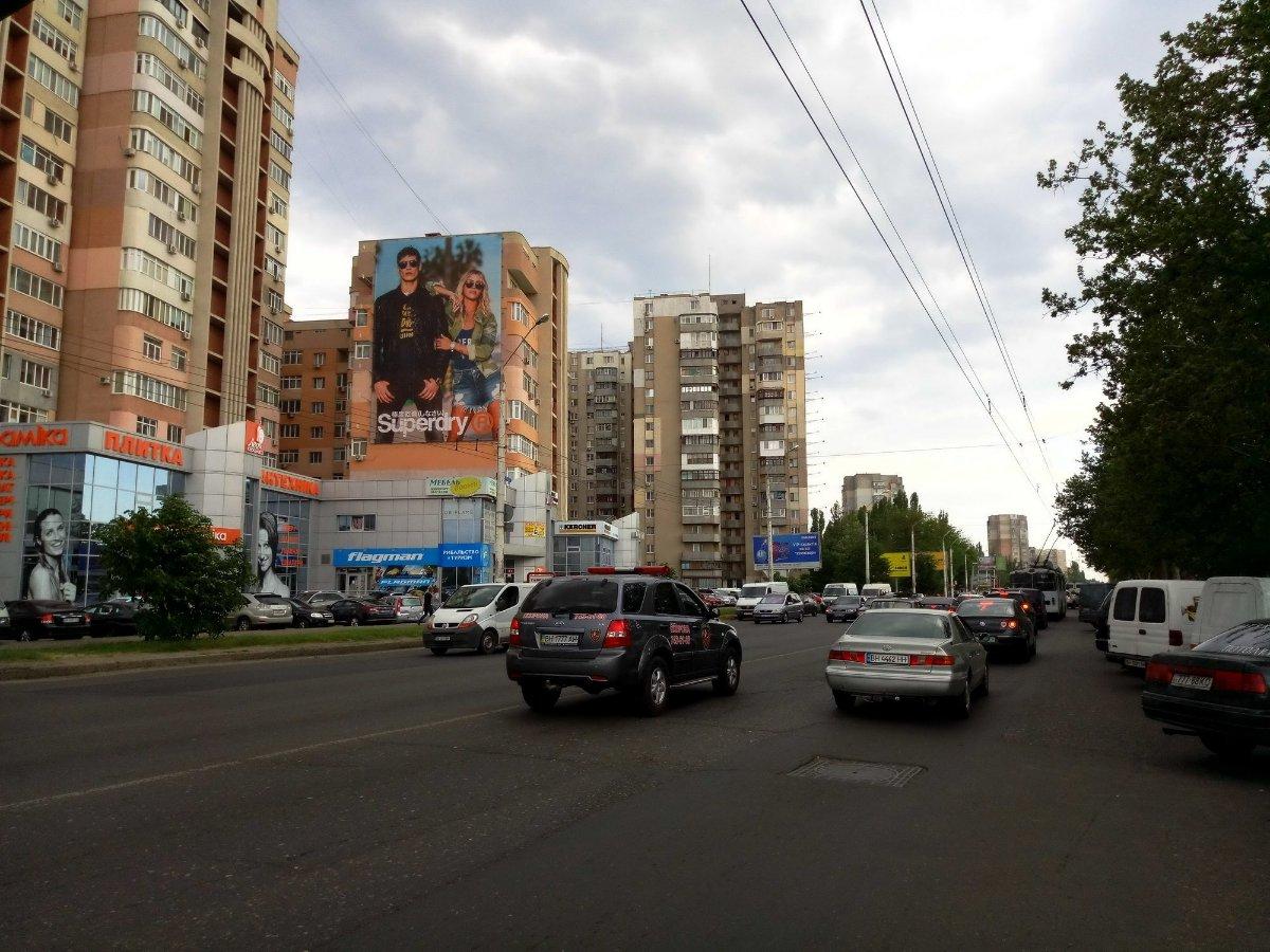 IDMedia Наружная реклама в городе Одесса (Одесская область), Брандмауэр в городе Одесса №235497 схема
