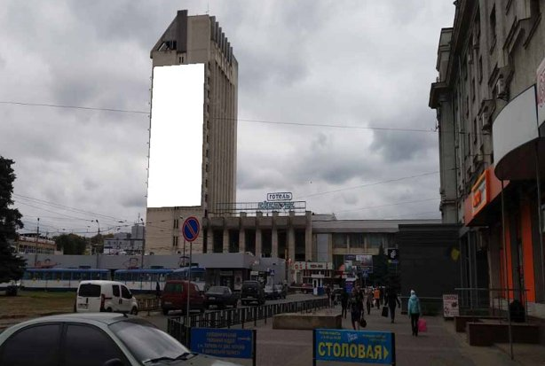Брандмауэр №235503 в городе Харьков (Харьковская область), размещение наружной рекламы, IDMedia-аренда по самым низким ценам!