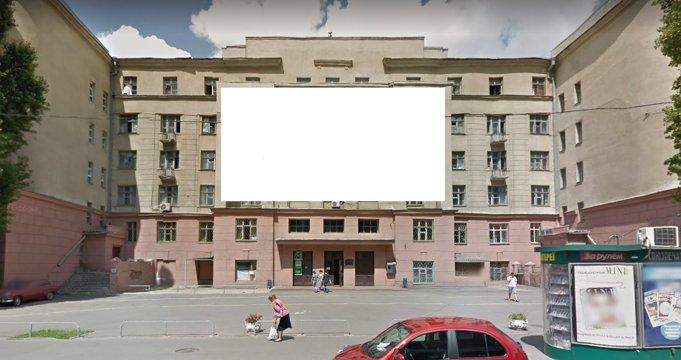 Брандмауэр №235507 в городе Харьков (Харьковская область), размещение наружной рекламы, IDMedia-аренда по самым низким ценам!