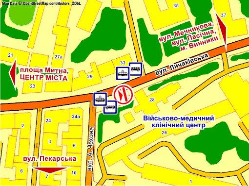 IDMedia Наружная реклама в городе Львов (Львовская область), Экран в городе Львов №235719 схема