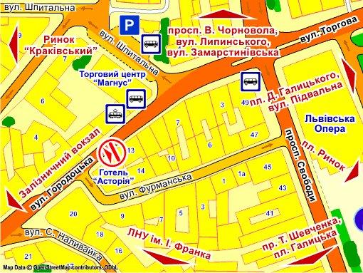 IDMedia Наружная реклама в городе Львов (Львовская область), Экран в городе Львов №235721 схема