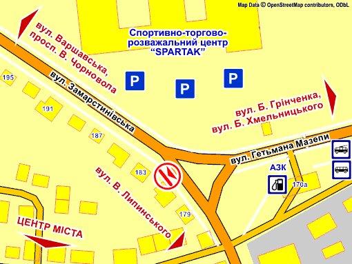 IDMedia Наружная реклама в городе Львов (Львовская область), Экран в городе Львов №235722 схема