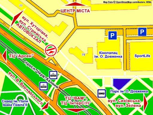 IDMedia Наружная реклама в городе Львов (Львовская область), Экран в городе Львов №235723 схема