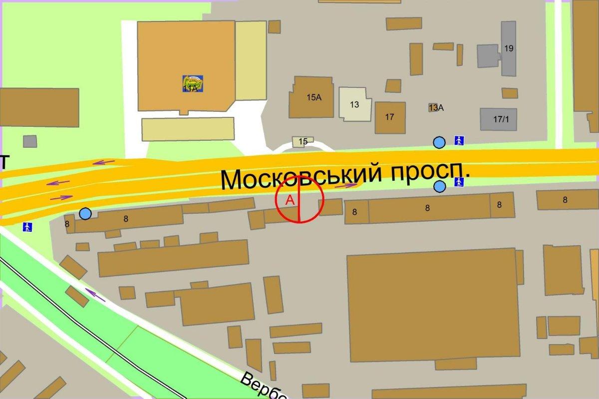 IDMedia Наружная реклама в городе Киев (Киевская область), Экран в городе Киев №237990 схема