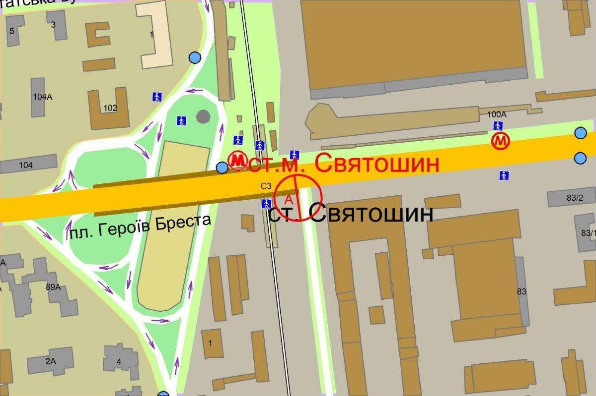 IDMedia Наружная реклама в городе Киев (Киевская область), Экран в городе Киев №238256 схема