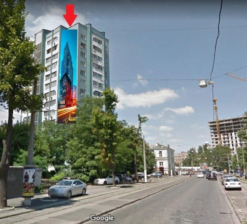 Брандмауэр №238654 в городе Одесса (Одесская область), размещение наружной рекламы, IDMedia-аренда по самым низким ценам!