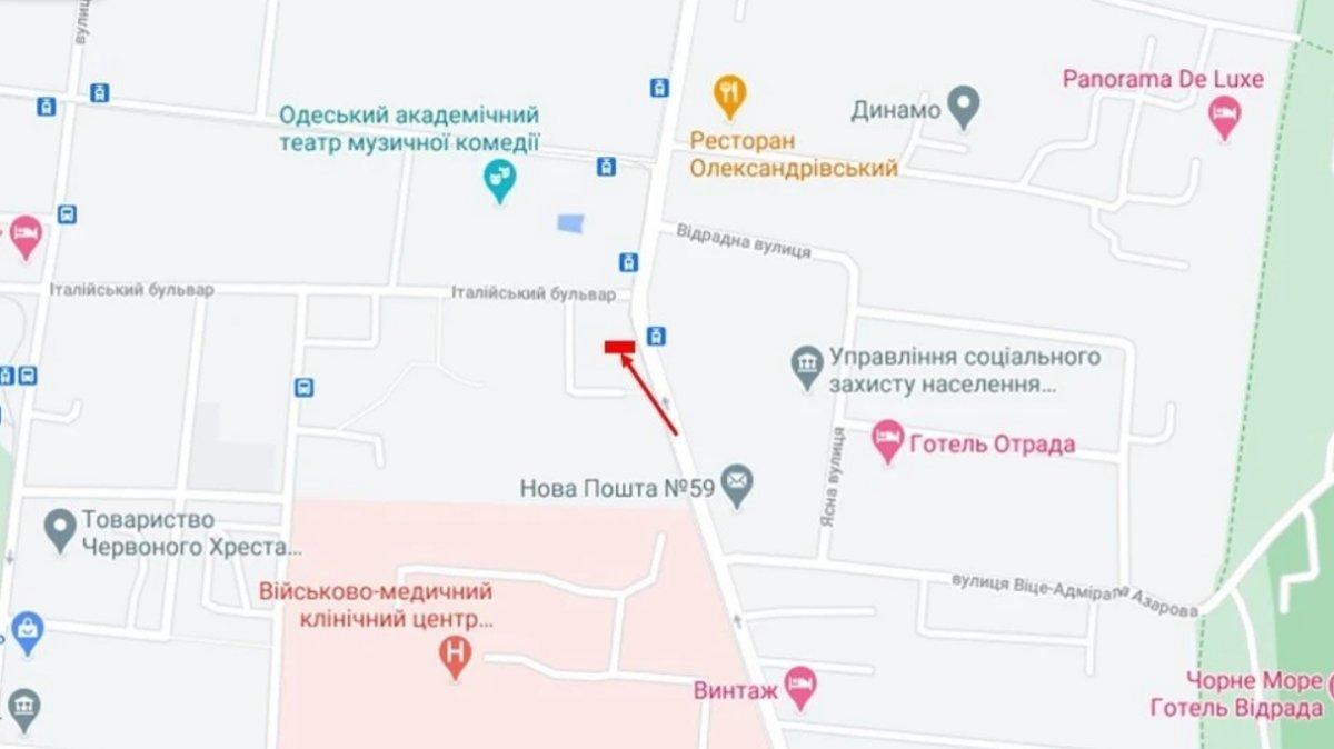 IDMedia Наружная реклама в городе Одесса (Одесская область), Брандмауэр в городе Одесса №238654 схема