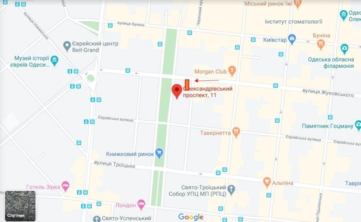 IDMedia Наружная реклама в городе Одесса (Одесская область), Брандмауэр в городе Одесса №238655 схема