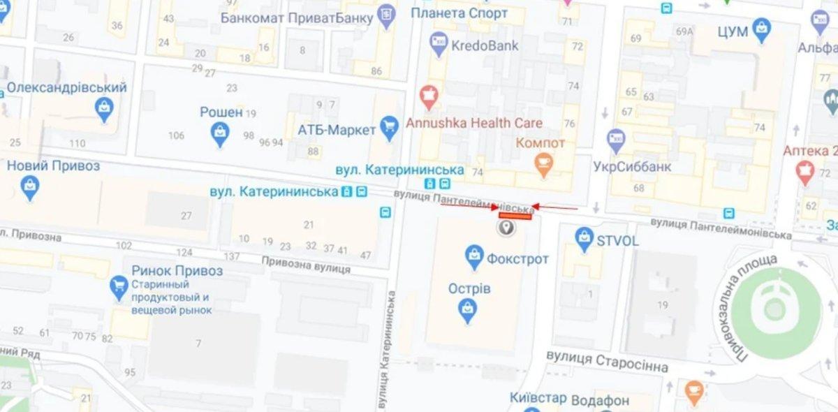 IDMedia Наружная реклама в городе Одесса (Одесская область), Брандмауэр в городе Одесса №238657 схема