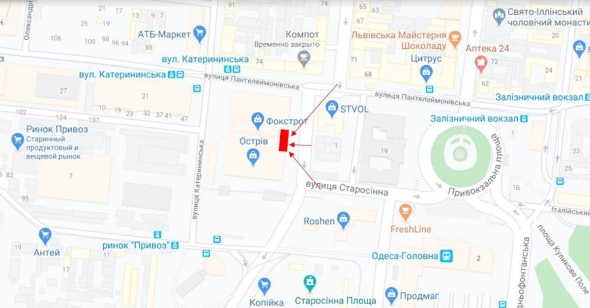 IDMedia Наружная реклама в городе Одесса (Одесская область), Брандмауэр в городе Одесса №238658 схема
