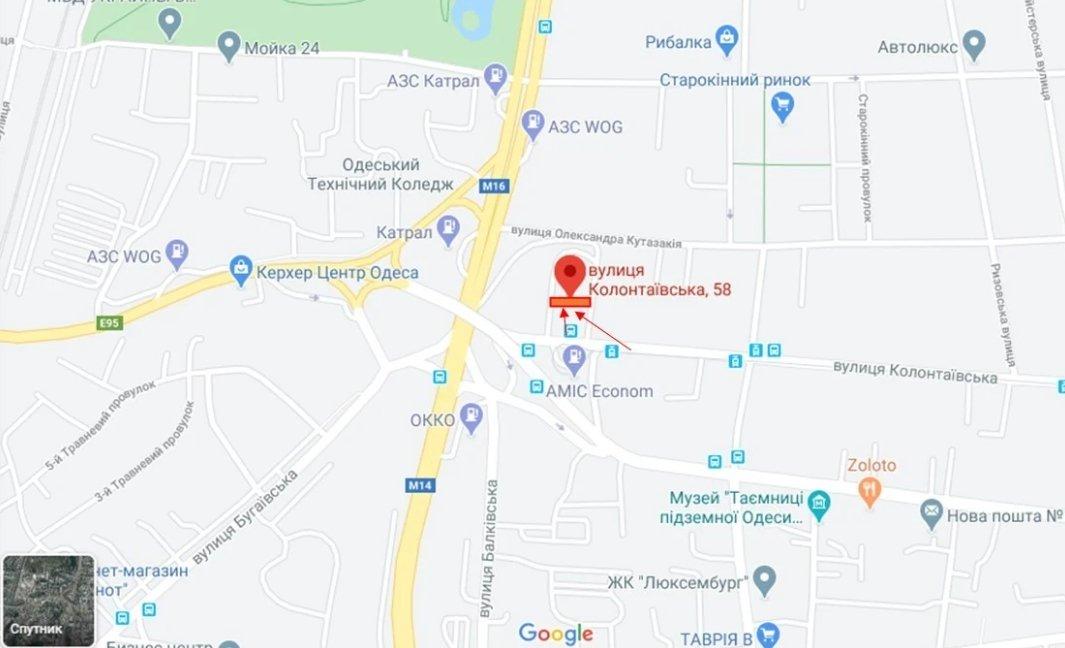 IDMedia Наружная реклама в городе Одесса (Одесская область), Брандмауэр в городе Одесса №238664 схема