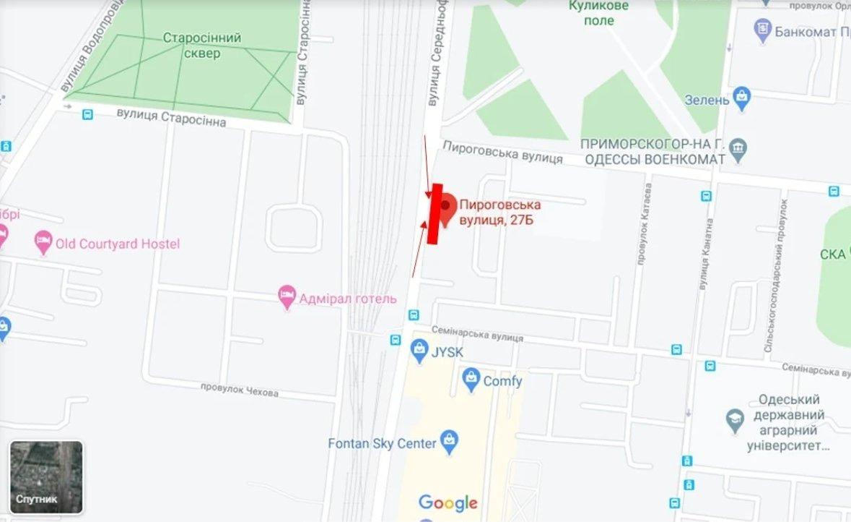 IDMedia Наружная реклама в городе Одесса (Одесская область), Брандмауэр в городе Одесса №238668 схема