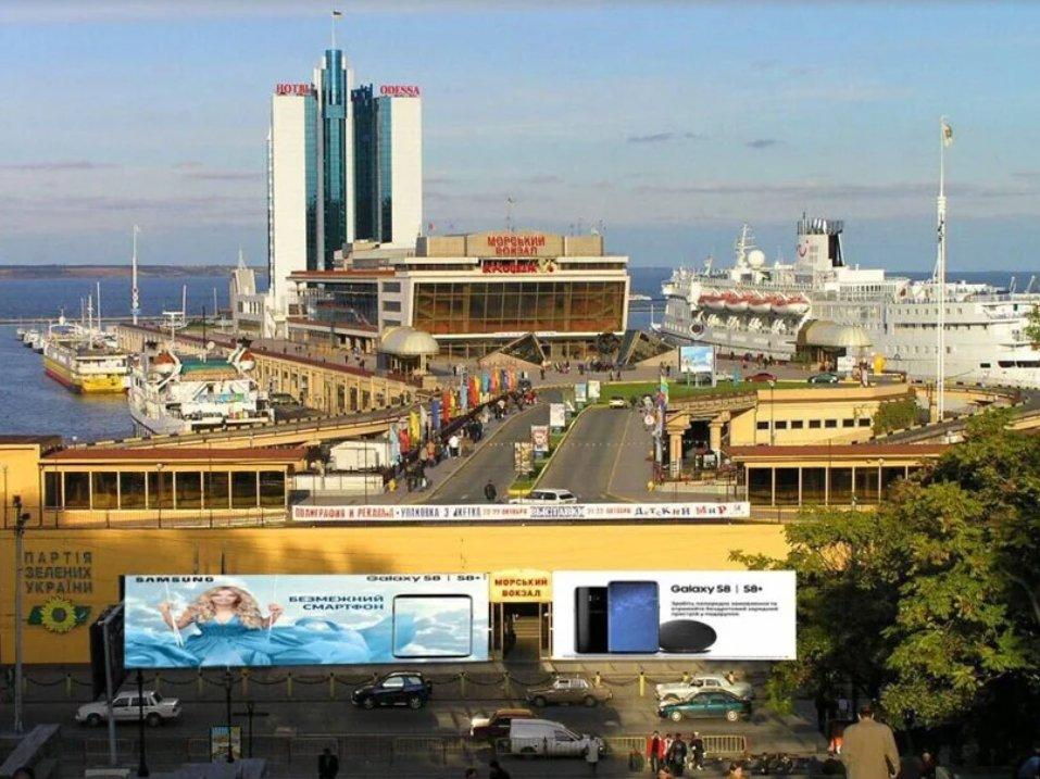 Брандмауэр №238669 в городе Одесса (Одесская область), размещение наружной рекламы, IDMedia-аренда по самым низким ценам!
