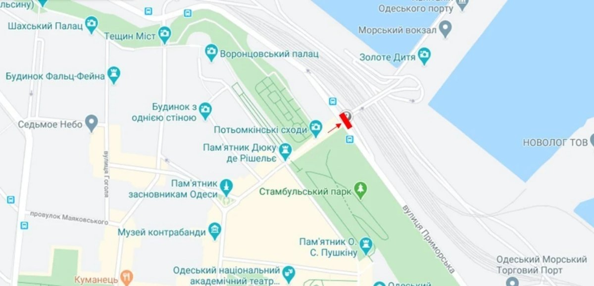 IDMedia Наружная реклама в городе Одесса (Одесская область), Брандмауэр в городе Одесса №238669 схема