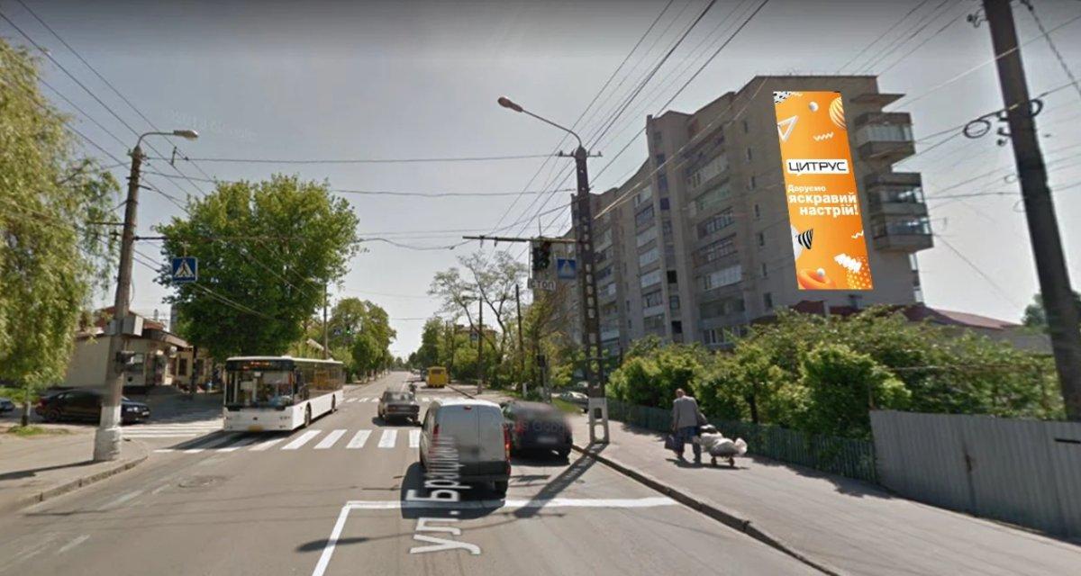 Брандмауэр №238673 в городе Винница (Винницкая область), размещение наружной рекламы, IDMedia-аренда по самым низким ценам!