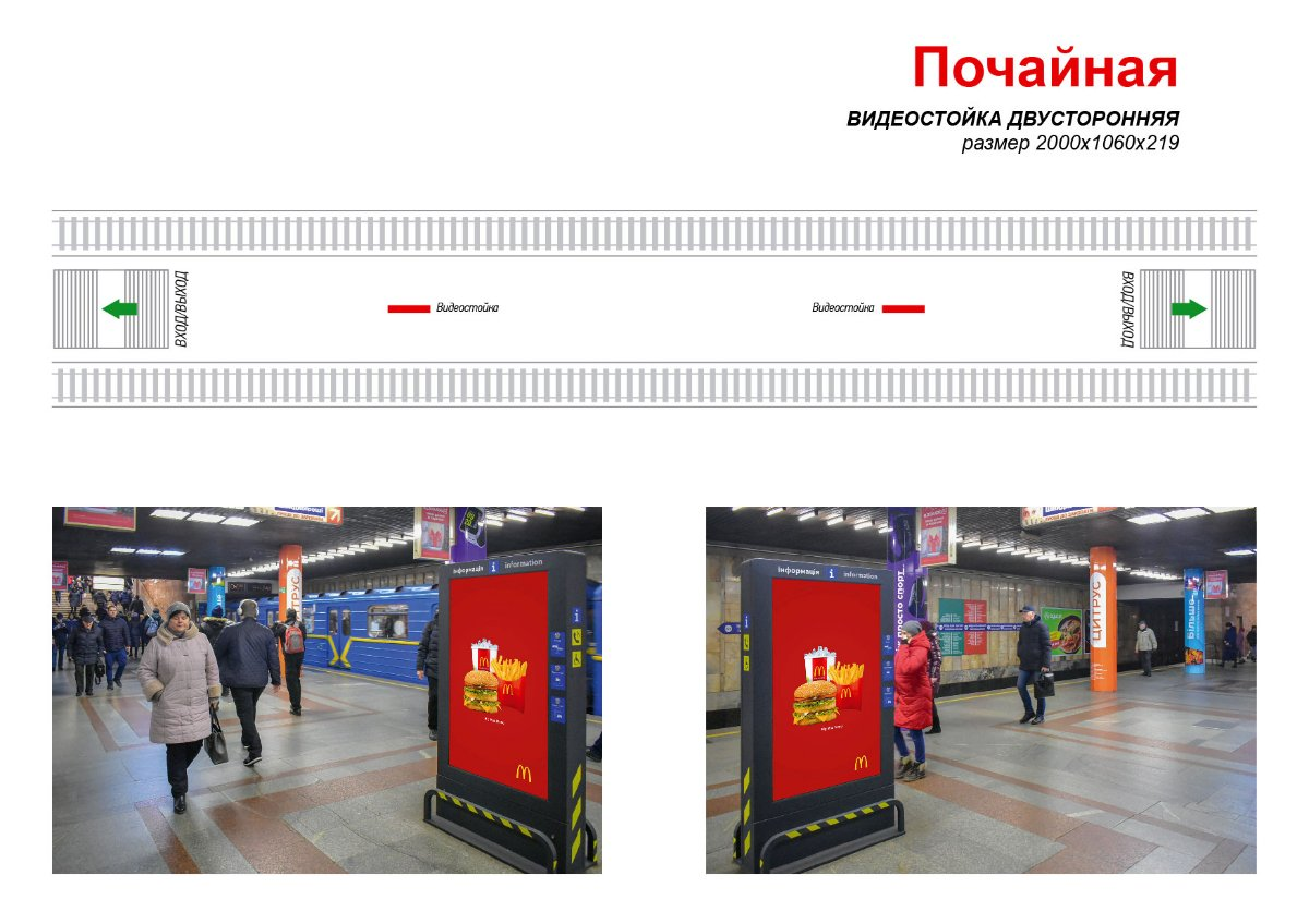 Метро Digital №238974 в городе Киев (Киевская область), размещение наружной рекламы, IDMedia-аренда по самым низким ценам!