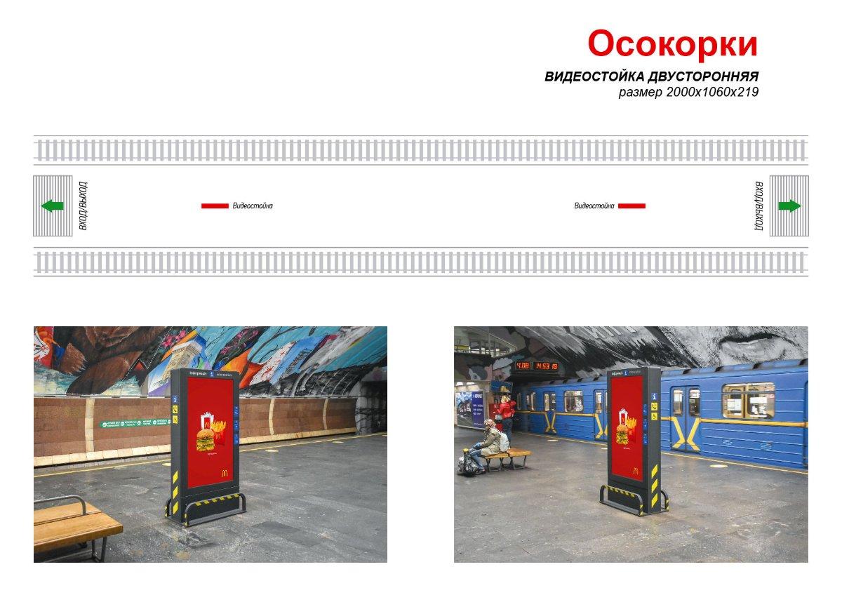 Метро Digital №238999 в городе Киев (Киевская область), размещение наружной рекламы, IDMedia-аренда по самым низким ценам!