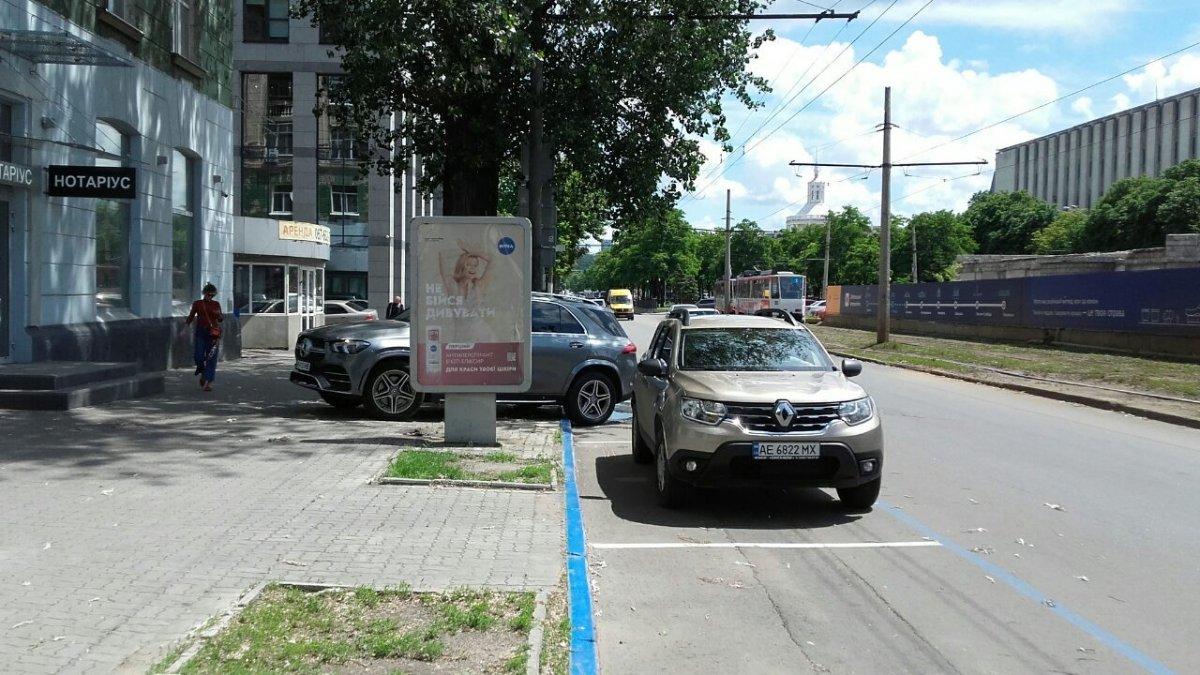 Ситилайт №240261 в городе Днепр (Днепропетровская область), размещение наружной рекламы, IDMedia-аренда по самым низким ценам!