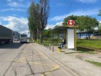 Остановка №240711 в городе Днепр (Днепропетровская область), размещение наружной рекламы, IDMedia-аренда по самым низким ценам!