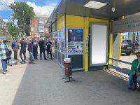 Остановка №240718 в городе Днепр (Днепропетровская область), размещение наружной рекламы, IDMedia-аренда по самым низким ценам!