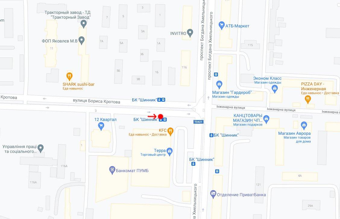 IDMedia Наружная реклама в городе Днепр (Днепропетровская область), Остановку в городе Днепр №240718 схема