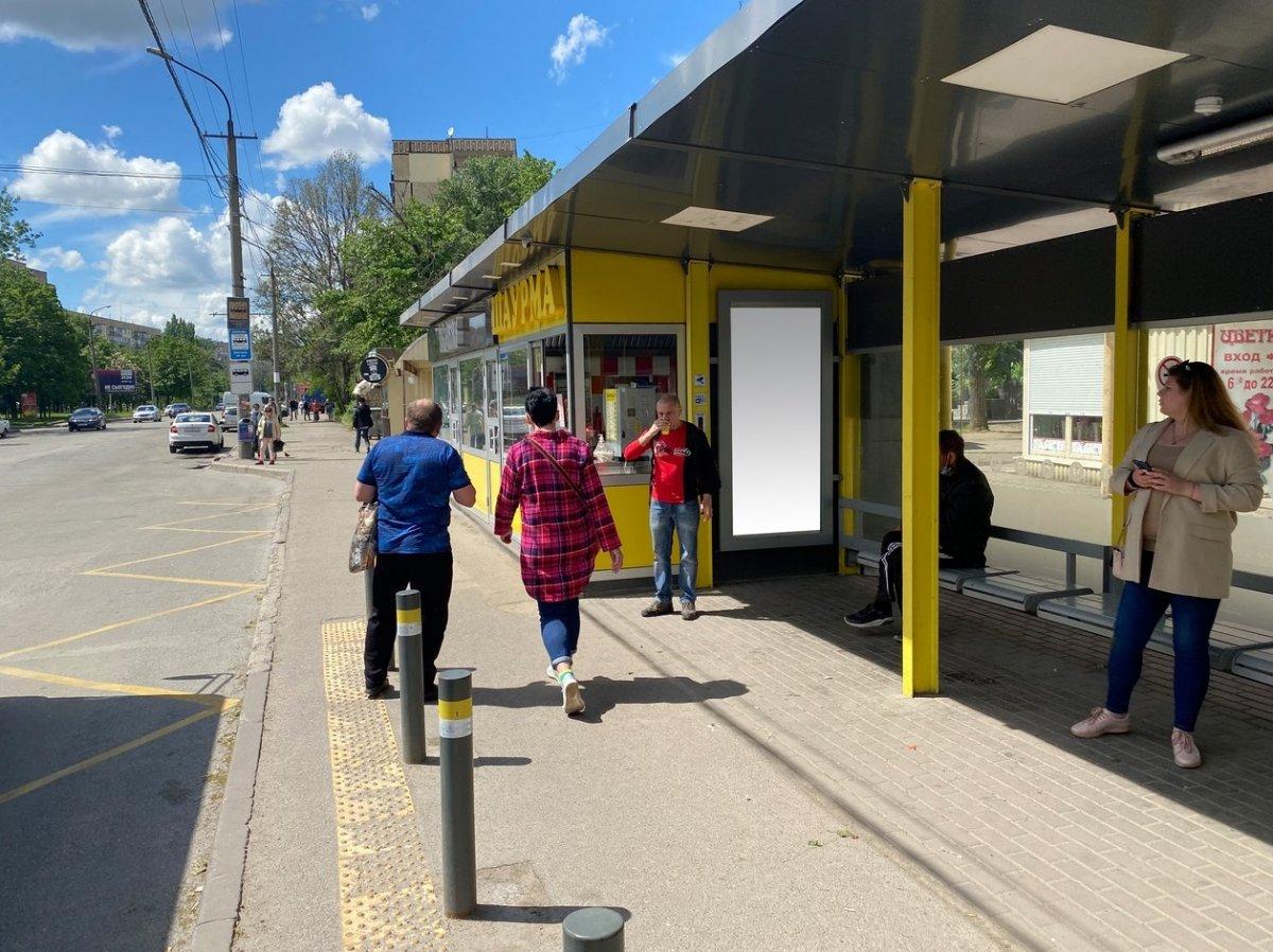 Остановка №240723 в городе Днепр (Днепропетровская область), размещение наружной рекламы, IDMedia-аренда по самым низким ценам!