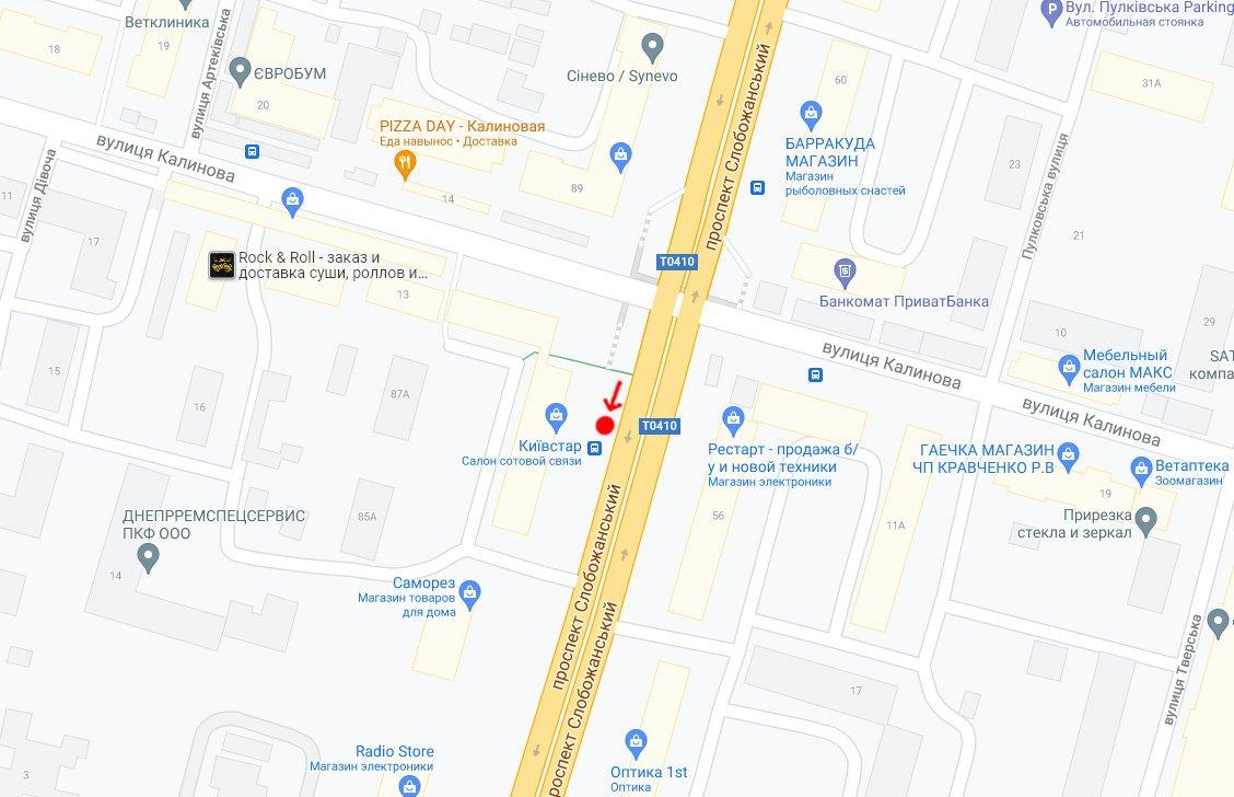 IDMedia Наружная реклама в городе Днепр (Днепропетровская область), Остановку в городе Днепр №240733 схема