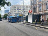 Остановка №240742 в городе Днепр (Днепропетровская область), размещение наружной рекламы, IDMedia-аренда по самым низким ценам!