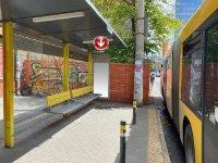Остановка №240745 в городе Днепр (Днепропетровская область), размещение наружной рекламы, IDMedia-аренда по самым низким ценам!
