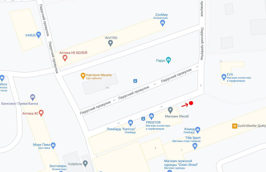 IDMedia Наружная реклама в городе Днепр (Днепропетровская область), Остановку в городе Днепр №240750 схема