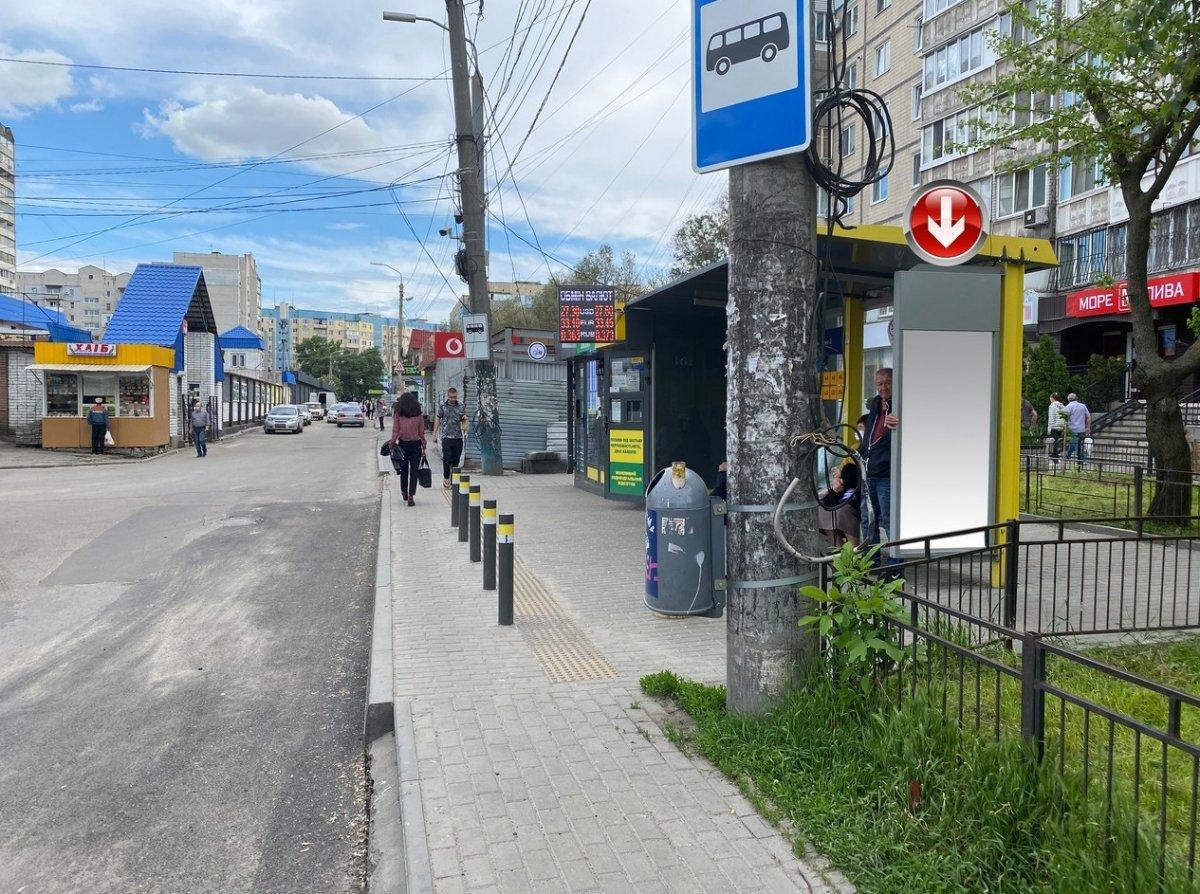 Остановка №240751 в городе Днепр (Днепропетровская область), размещение наружной рекламы, IDMedia-аренда по самым низким ценам!